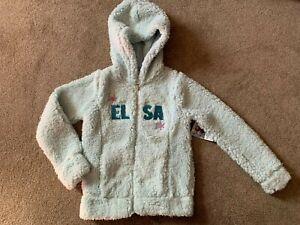 NWT Jumping Beans Disney Frozen Elsa Little Girls Plush Zip Front Hoodie - Size