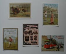 Advertising - 5 modern postcards showing Huntley and Palmers advertisements