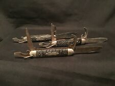 3 VINTAGE CAMPING KNIVES imperial Camco Colonial