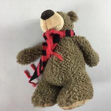 """Georgia Bulldogs Bear Plush Scarf Stuffed 14"""" Toy UGA Dawgs Big Feet Cute Cuddly"""