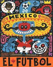 La Mascota Del Mundial El Futbol Jorge R. Gutierrez Latin Soccer Art Print 10x12