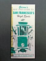 Vintage Grison's Map and Guide to San Francisco's High Spots Brochure 1956