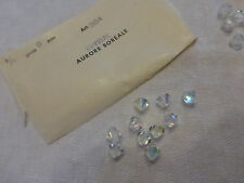 lot de 10 perle  SWAROVSKI cristal  AB art 364  toupie 9 mm SUPERBE