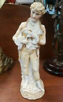 Early 20th Century German Bisque Victorian Man with Cane Figurine