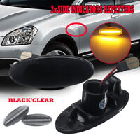 LED Sequential Smoked Side Marker Signal Light Indicator Repeater  For  *//