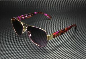 COACH HC7059 924890 Purple Gold Pilot Women's 58 mm Sunglasses