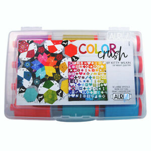 AURIFIL THREAD COLOR CRUSH BY KITTY WILKIN 100% COTTON LARGE SPOOLS 50 WT