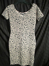 LEOPARD SEXY GUESS dress (Holly Leopard Combo) pale pink, black ,gray size S