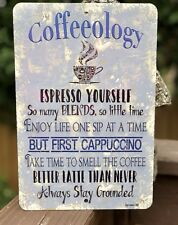 Coffee Bar Sign- Kitchen Decor - Party Decor - Metal Coffee Sign - Coffeeology