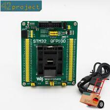 QFP100 LQFP100 QFP STM32 STM32F4 IC Test Socket Programming Adapter 0.5mm