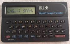 Seiko Instruments Spanish  English Pocket Translator Calculator Model TR-2200