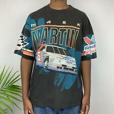 Vintage NASCAR Shirt Size Mens XL Mark Martin All Over Print 90s