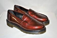 """Dr. Martens Cherry Red """"Abby"""" Penny Loafers Size 6"""