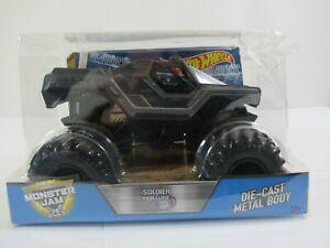 Hot Wheels Monster Jam Soldier Fortune Black Ops 1:24 Diecast Truck PACKAGE WEAR