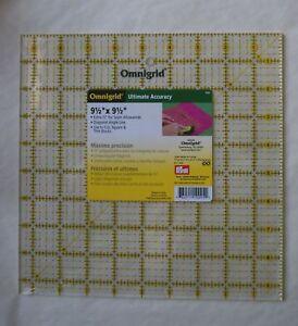 """Omnigrid Yellow Ruler Omnigrip Quilting 9.5"""" Square R95"""