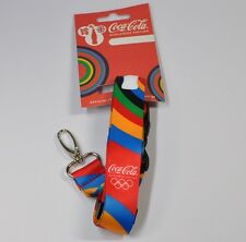 Coca-Cola Key band London Olympics 2012 Coke Olympic Lanyard white Bottle