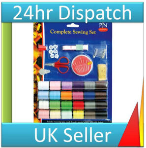Travel Kit Complete Emergency Home Sewing Kit embroidery kit 24 x colours New