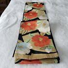 Japanese antique vintage brocade silk Fukuro Obi sash belt Kimono textile chacha