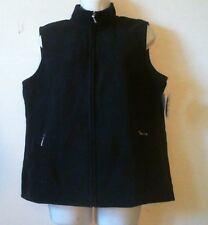 b6b6b3514e5ad GB) Women s Karen Scott Black Sleeveless Zipper Front Fleece Vest Size----
