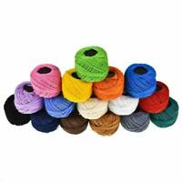 16 Rolls Cotton Embroidery Thread Ball Cross Stitch Sewing Tools Accessories DIY