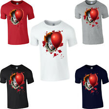 Pennywise T-Shirt IT Clown Balloon lamp Horror Scary Halloween Adult & Kids Top