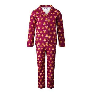 Team AFL Football Mens Adults Flannelette Pyjamas Cotton PJ Set Sleepwear Pants