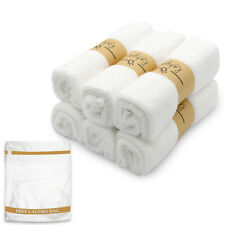 Ultra Soft Organic Luxury Bamboo Wash Cloths Face Towel Free Laundry Bag(6-pack)