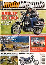 MOTO LEGENDE 281 HARLEY DAVIDSON 1000 XR YAMAHA FZX 750 Fazer NORTON 500 AJS 18