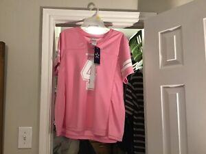 Dak Prescott Dallas Cowboys Jersey #4 NFL Authentic Apparel Pink Women's Large!