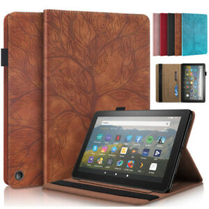 """For Amazon Kindle Fire HD 8 HD 10 8"""" 10.1"""" Tablet Flip Leather Stand Case Cover"""