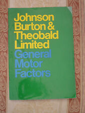 VINTAGE JOHNSON BURTON THEOBALD MOTOR FACTORS BROCHURE (NORWICH VANE RAYDYOT)