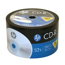 100 Pack HP Logo Brand Blank CDR CD-R 52X Recordable Disc Media 80 min 700MB