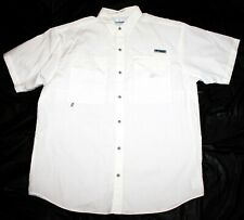 Columbia PFG Mens Short Sleeve Button Front Vented Shirt Size Large