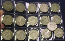 1946 to 1963 Australian Florins complete set, average circulated, 16 coins.