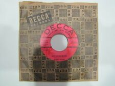 BOBBY HELMS No Other Baby / You're No Longer Mine DECCA 30928 PROMO 45 rpm ROCK