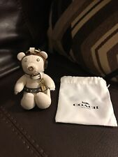 Coach Star Wars Princess Leia Bear Bag Charm 3D Doll Toy White Gold F88047