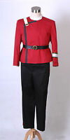 Star Trek Adult Halloween Costumes Wrath of Khan starfleet Uniform<Custom Made>