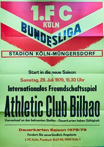 Ansetzungsplakat 28.Juli 1979 1.FC Köln - Athletic Club Bilbao (Spanien)