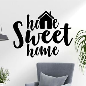 Home Sweet Home Family Room Bedroom Fun Quote Decal Wall Art Sticker Home UK