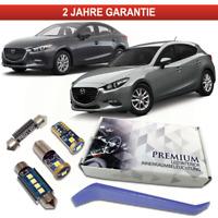 Mazda 3 BM BN Premium LED Innenraumbeleuchtung Set 6 SMD Weiß Canbus 2013+