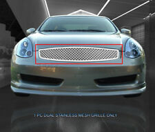 Fedar Fits 2003-2007 Infiniti G35 Coupe Chrome Dual Weave Mesh Grille Insert