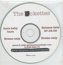 (ET937) The Rokettes, Burn Baby Burn - 2009 DJ CD