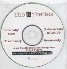 (ET937) The Rokettes, Burn Baby Burn - 2009 DJ CD