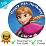 DISNEY FROZEN ANNA BIRTHDAY CAKE TOPPER EDIBLE ROUND CAKE TOPPER DECORATION