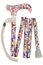 Ladies Handbag Sized Folding Walking Stick - Butterflies - by Charles Buyers