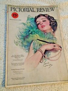 PICTORIAL REVIEW mag 11/1923 Dolly Dingle COCA COLA Coles Phillips Joseph Conrad