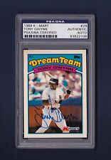 Tony Gwynn signed San Diego Padres 1989 K-Mart Dream Team baseball card Psa