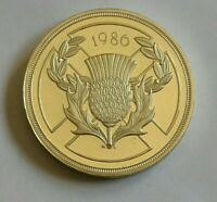 1986 Uk Commonwealth Games Silver Proof £2 Two Pound Coin. beautiful coin.