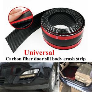 10cm Car Carbon Fiber Strip Tape Auto Door Side Body Bumper Edge Scratch Sticker