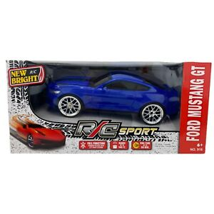 New Bright R/C Blue Ford Mustang GT350 1:16 Scale Fully Functional Vehicle